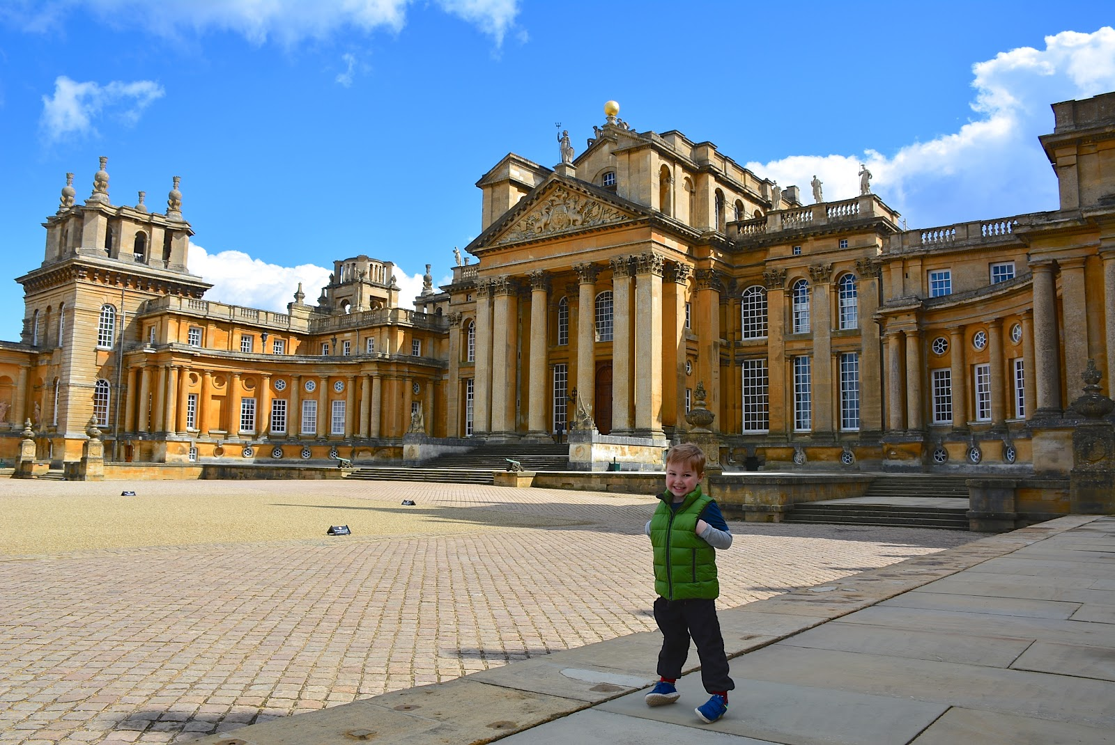 Exterior facade of Blenheim Palace