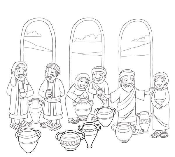 Pequeninos de Jesus: Lição 03: Jesus transforma água em vinho.