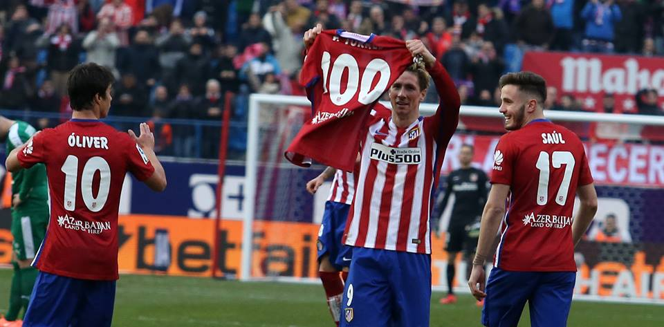 Torres' 100th goal.