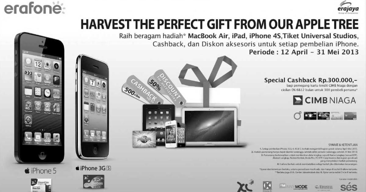 Erafone promo iPhone sampai 31 Mei 2013