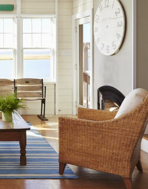 Wicker Armchair in Gingras Home