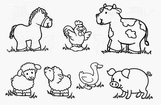 DIBUJOS DE ANIMALES PARA COLOREAR... Animales domésticos... Animales ...
