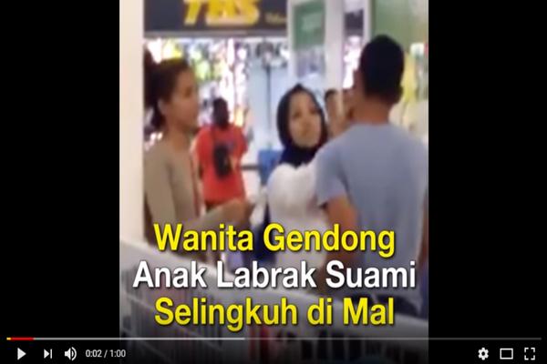 Labrak Suami dan Selingkuhannya di Mall, Wanita ini Bilang