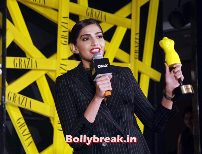 Sonam Kapoor, Grazia Young fashion Awards Pics