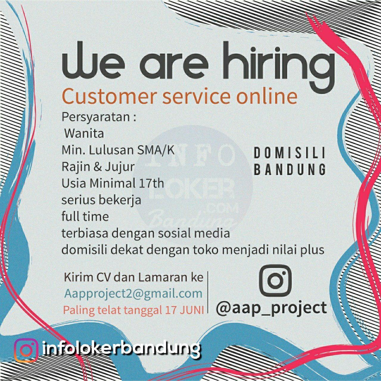Lowongan Kerja AAP Project Bandung Juni 2018