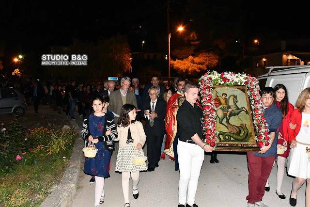 Στα Πυργιώτικα Ναυπλίου γιόρτασαν τον Άγιο Γεώργιο