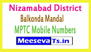 Balkonda Mandal MPTC Mobile Numbers List Nizamabad District in Telangana State