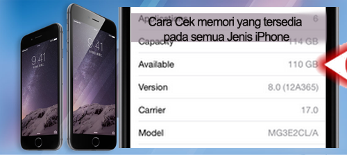 Cara Cek memori yang tersedia pada semua Jenis iPhone