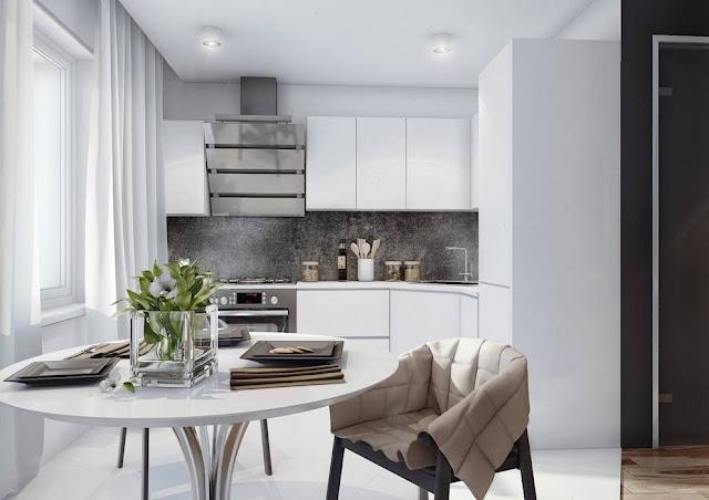 dapur minimalis type 36 yang terlihat luas