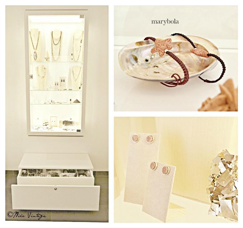 En la sección lugares especiales vistamos una joyería muy personal, los minerales, el diseño de joyas y un ambiente de elegancia innata es lo que transmite Marybola