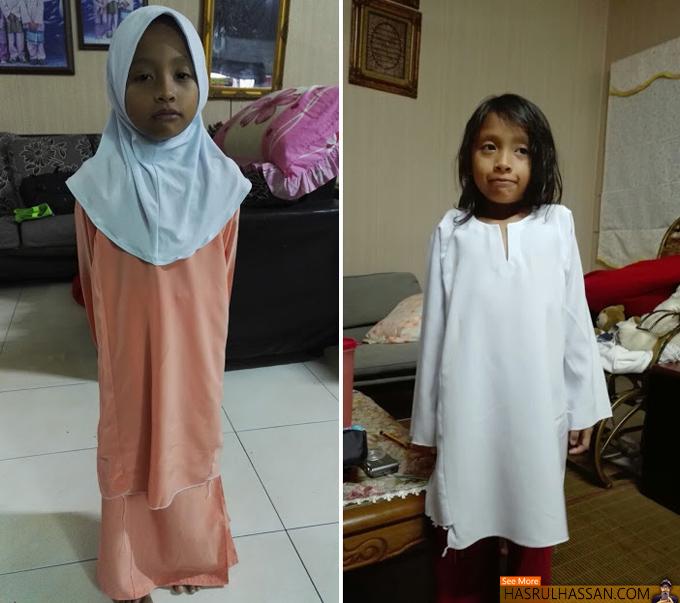 Jimat Kos Persekolahan Anak-Anak Dengan Jahit Baju Sekolah Sendiri