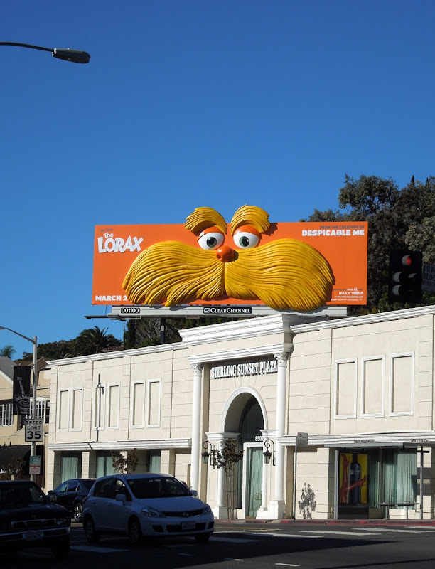The Lorax 3D installation billboard