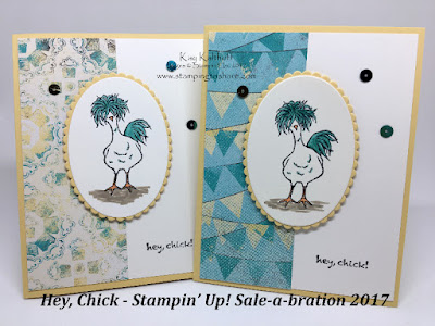 Stamping to Share, Cute Hey Chick Card, by Kay Kalthoff with Stampin' Up!
