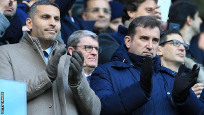 Pep Guardiola has spoken to chairman Khaldoon al-Mubarak (left) and chief executive Ferran Soriano (right) about the issue