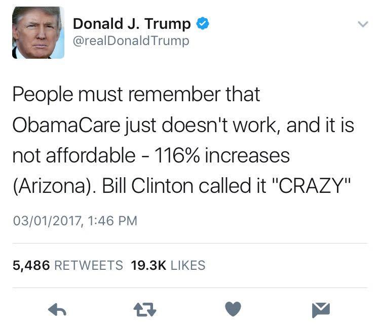 Read Donald Trump Tweets About Obamacare General Motors Musbizusblog