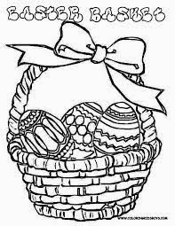 6 printable easter baskets coloring pages - Coloring Pages Easter Baskets
