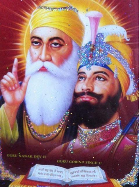guru nanak dev ji and guru gobind singh ji wallpaper