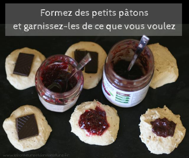 biscuits vegan végétariens végétaliens sans gluten sans lait sans oeufs fourrés chocolat confiture Nutella