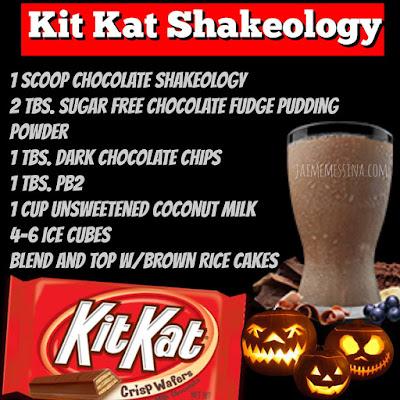 kit kat shakeology, healthy candy recipe, healthy halloween