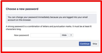 how to reset facebook password with gmail