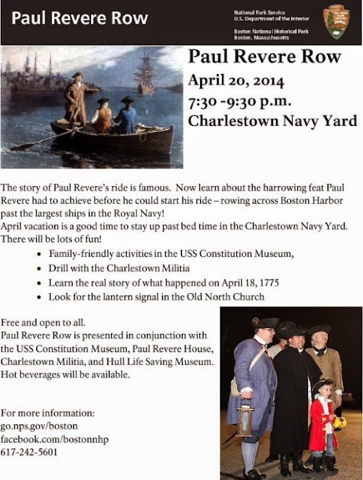 Join Paul Revere on April 20 at the Charlestown Navy Yard!
