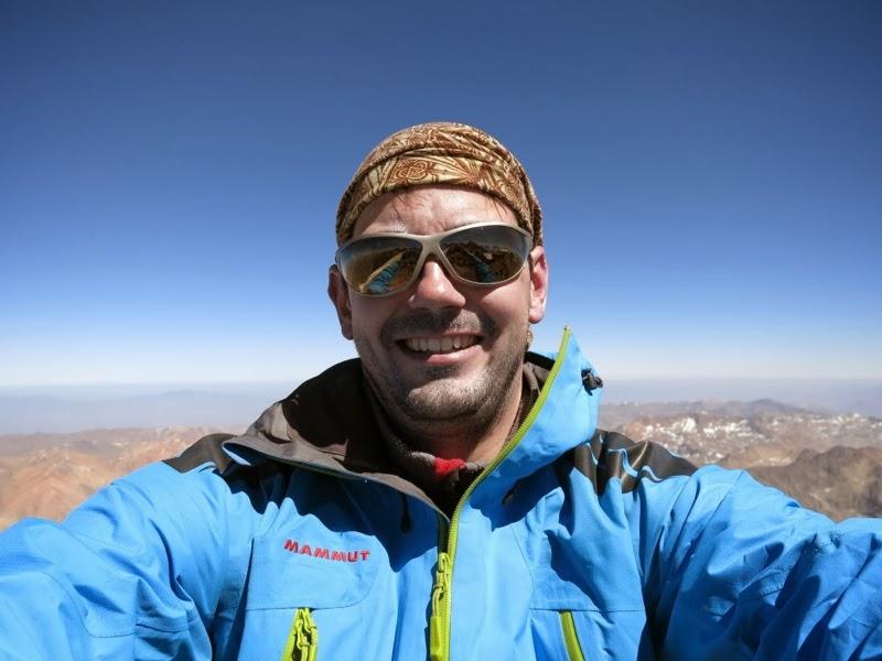 Grinsen am Gipfel