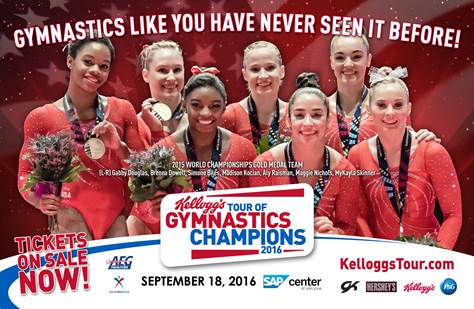 Kelloggs tour of gymnastics champions