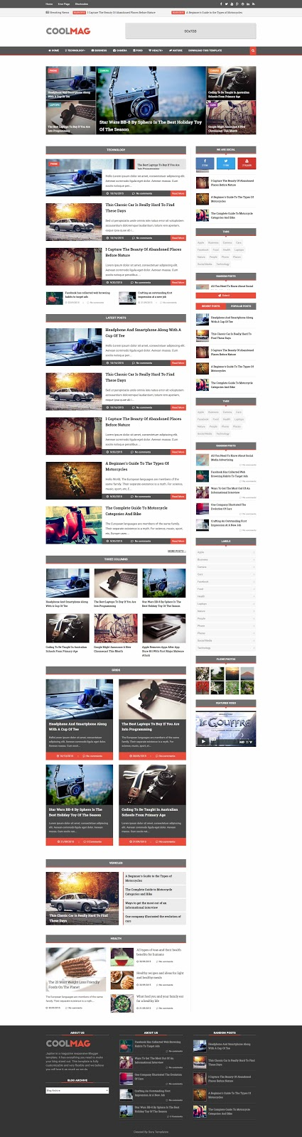 Blogger Theme Demo Image