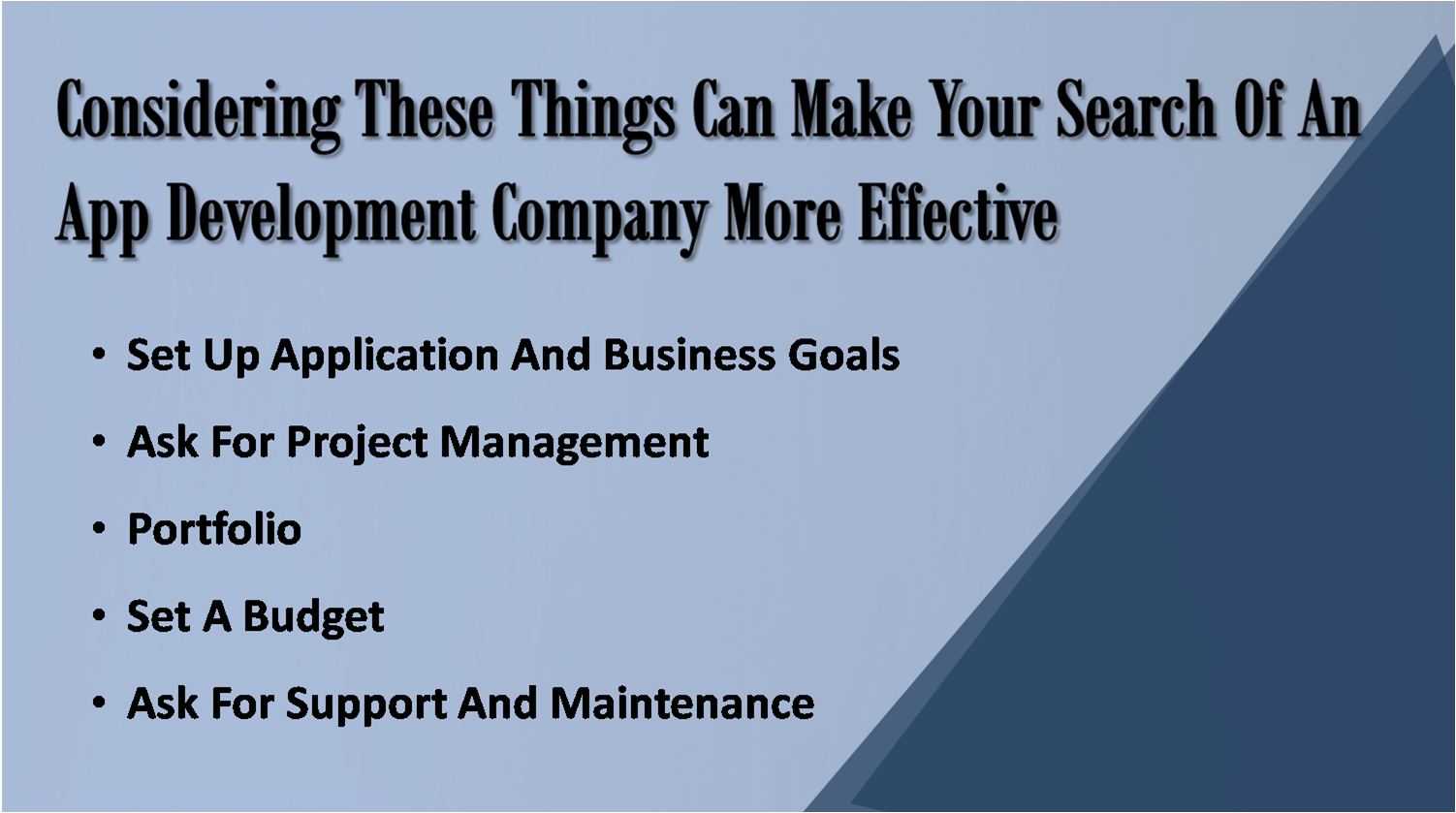 Things To Ask Before Hiring An App Development Company