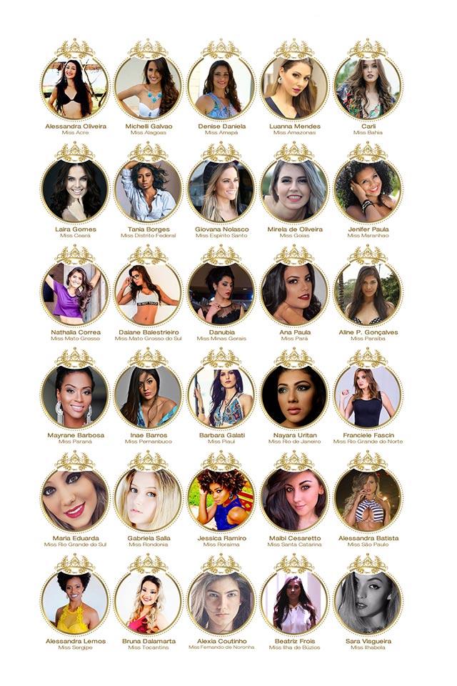 Candidatas a Miss Brasil 2016 - Foto: Reprodução