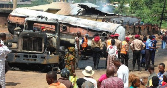 TRAGIC | Woman Burnt To Death In Ibadan Tanker Fire