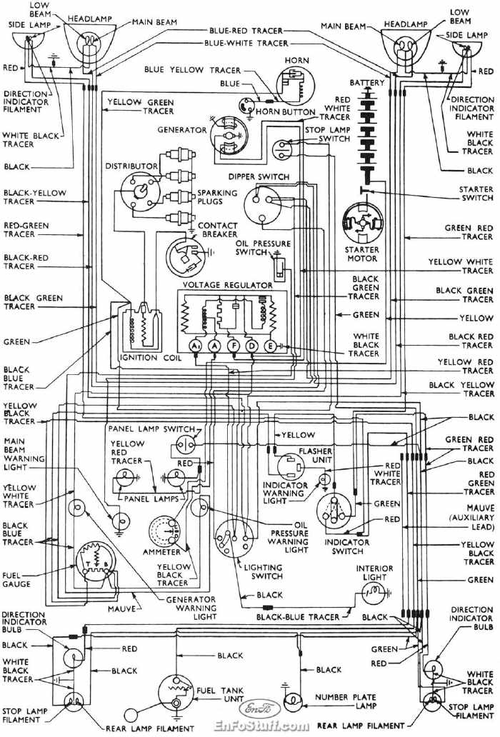 ford 1900 wiring diagram complete wiring diagrams of 1953-1957 ford anglia | all ... ford 900 wiring diagram