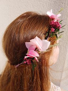 Patouche Chapeaux Couronne de fleurs de soie hortensia rose clair et baies