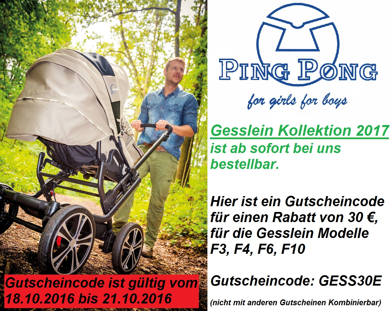 Gesslein Kinderwagen Modelle 2017 Ping Pong For Girls For Boys Gesslein 2017 Gutscheincode