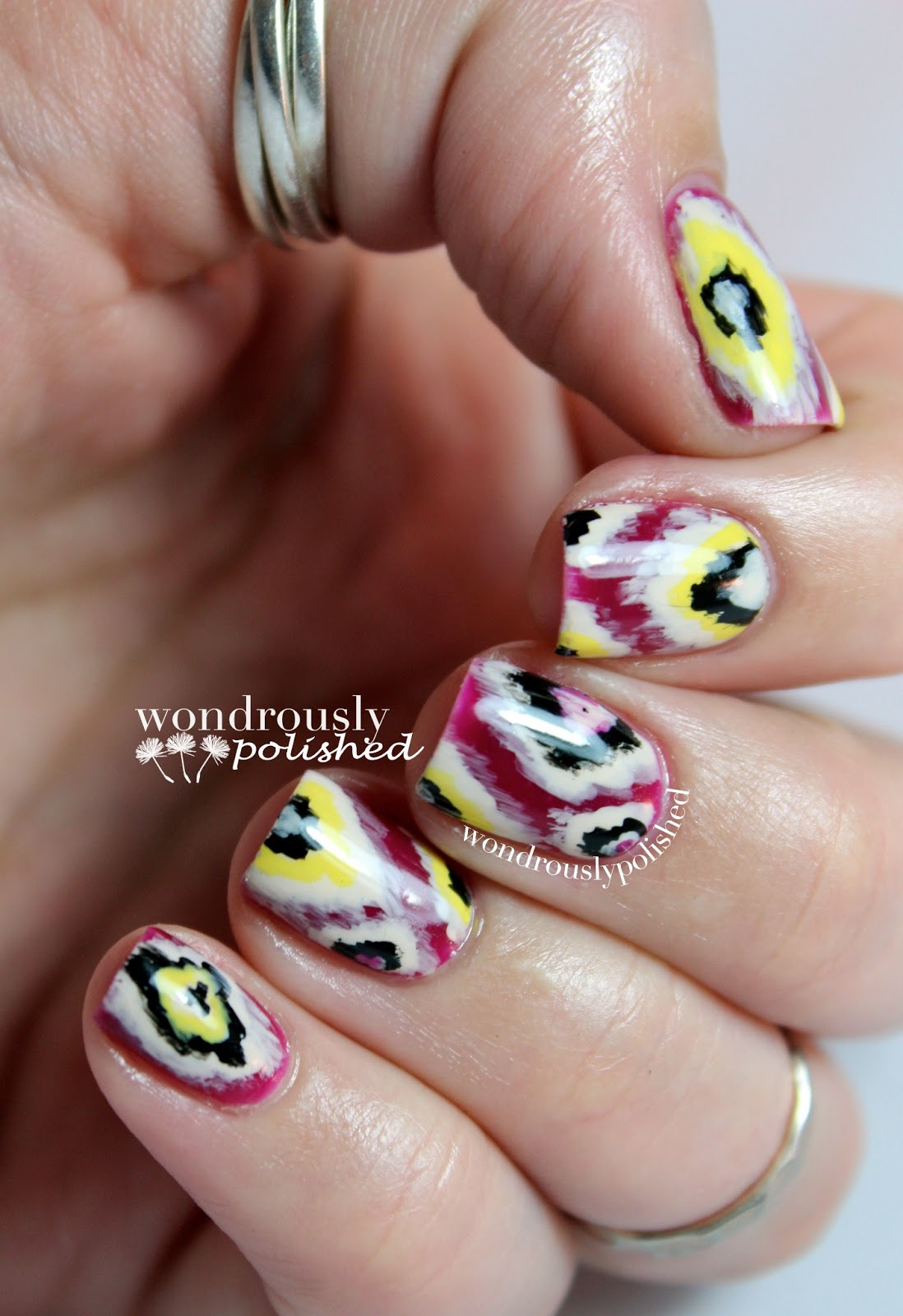 Wondrously Polished February Nail Art Challenge: Wondrously Polished: Seven Deadly Sins