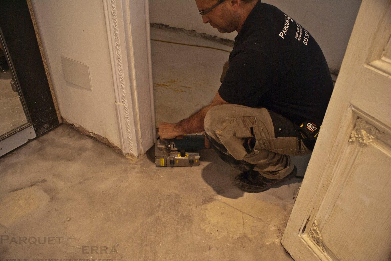 como toda instalacin de cualquier pavimento que se instale se tendrn que rebajar tanto las puertas como los marcos para poder instalar el parquet