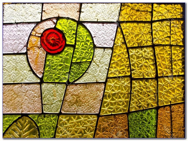 Abstract Art Stained GLASS WINDOW designs patterns