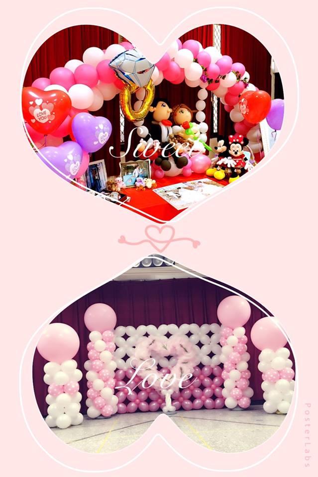 氣球婚禮場地佈置