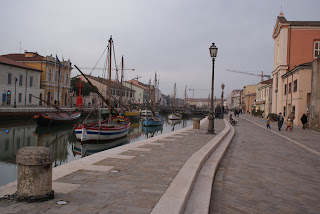 The canal in Cesenatico, along side which Pantani used to ride his bike as a boy growing up