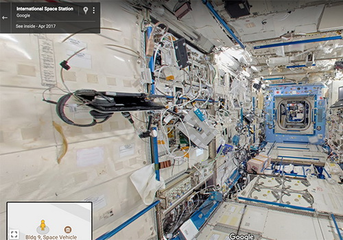 Tinuku Explore International Space Station with Google Street View