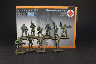 Galerie des figurines US Ariadna Ranger Force du jeu Corvus belli Infinity.