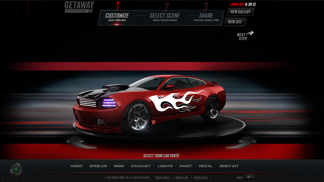 Online Car Customizer >> Client: Getaway Car Customizer   Jas Bajric - 3D Vehicle ...
