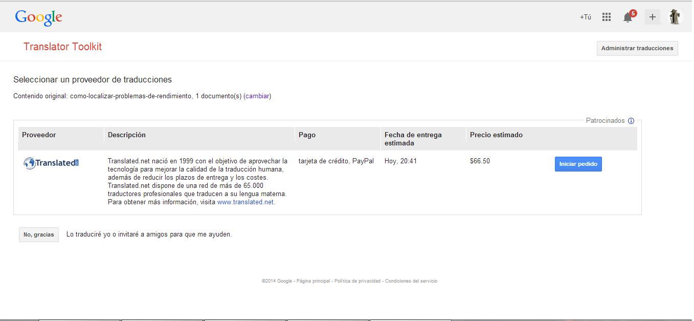 Google Translator Toolkit o cómo traducir varios archivos de