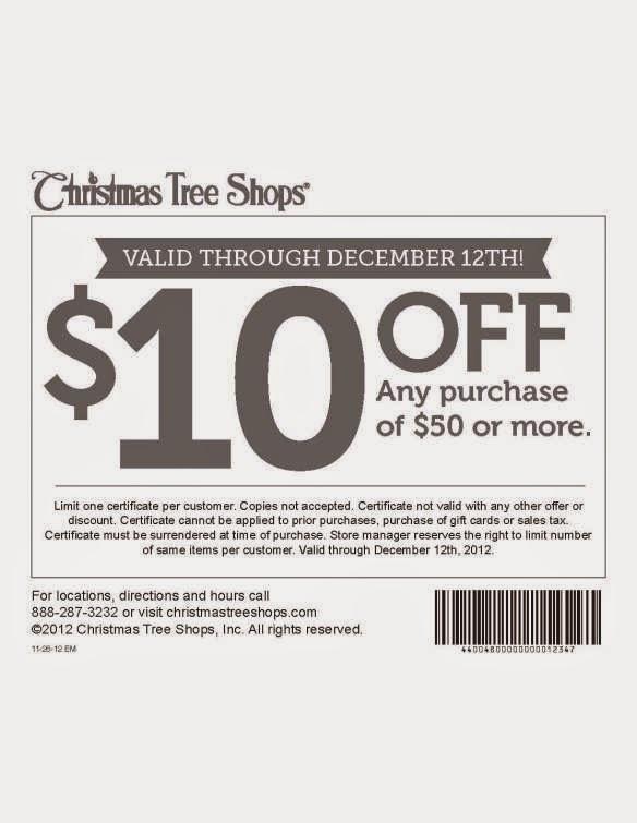 Free Printable Coupons: Christmas Tree Shops Coupons