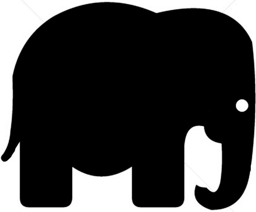 Baby Elephant Silhouette Flocksel Fox Stencil Elephant