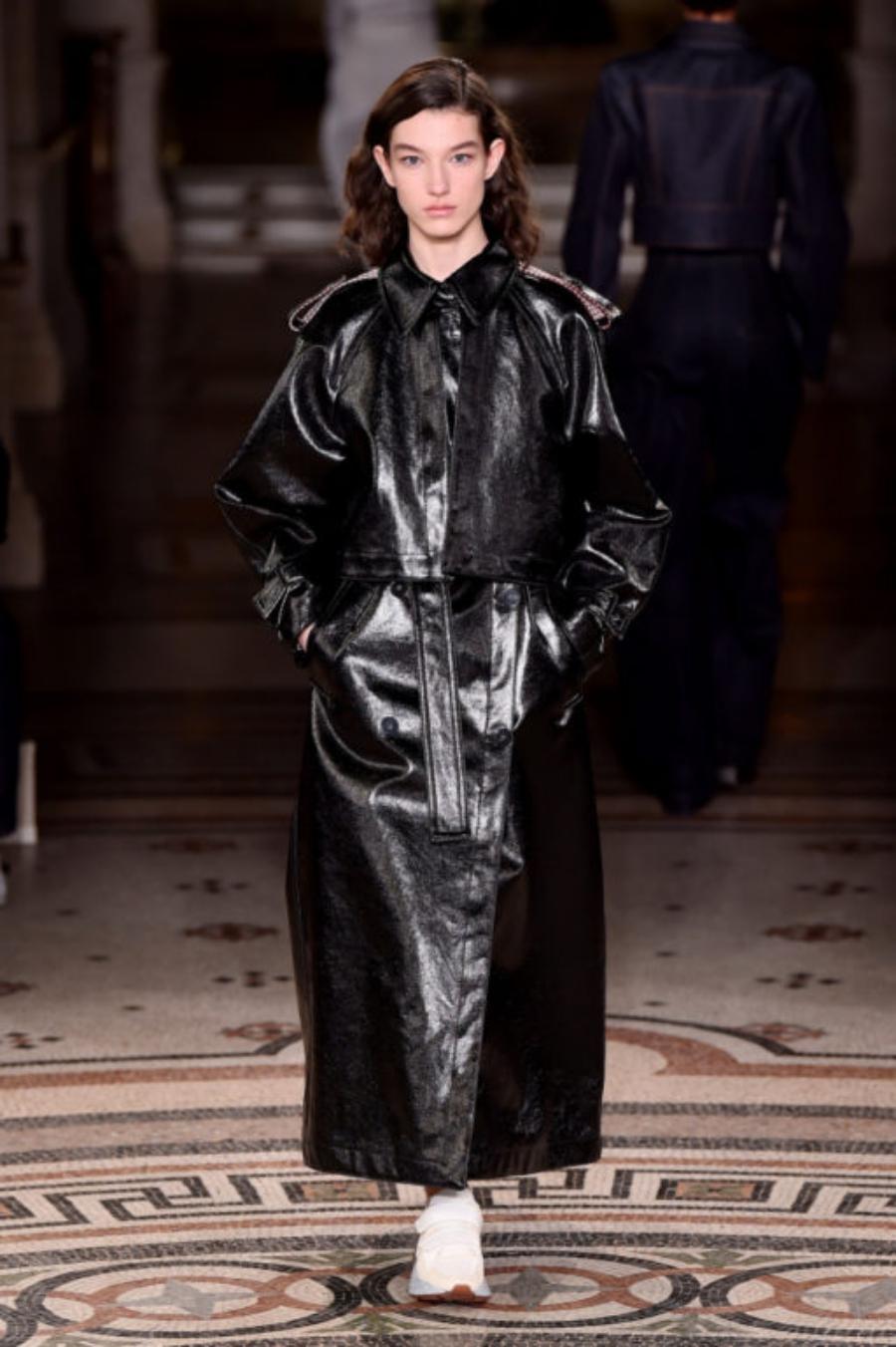 Leder-Trenchcoat – die beste Investition in diesem Herbst Stella McCartney