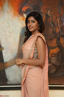 Eesha Rebba in beautiful peach saree at Darshakudu pre release ~  Exclusive Celebrities Galleries 041.JPG