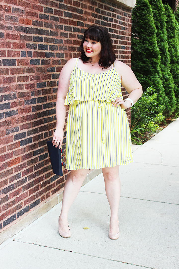 Plus Size Summer Style: City Chic Yellow Plus Size Dress
