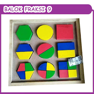 Balok Fraksi 9 Mainan Kayuku