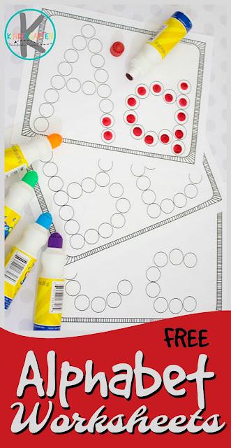 FREE Alphabet Letter Worksheets using Bingo Markers \u2013 Kindergarten